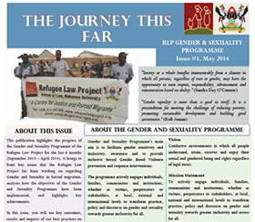 The Journey This Far: RLP Gender & Sexuality Programme Issue #1, May 2014